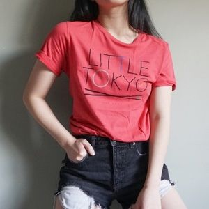 4/$15 Forever 21 Red Graphic Short Sleeve Tee